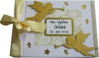 Livre d'or de baptême «anges dorés»