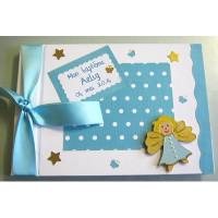 Livre d'or de baptême «ange turquoise»