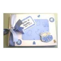 Livre d'or de baptême ou de naissance «Chaussons bleus»