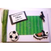 Livre d'or de baptême «football»