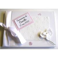 Livre d'or communion «orchidée»