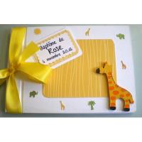 Livre d'or de baptême «girafe»