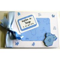 Livre d'or de baptême ou de naissance «body bleu»