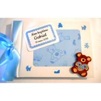 Livre d'or de naissance ou de baptême «ourson bleu»
