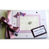 Livre d'or de mariage «papillons lilas»