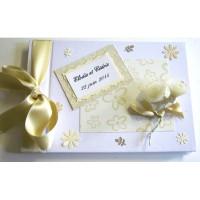 Livre d'or de mariage «fleurs ivoire»