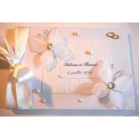 Livre d'or de mariage «papillons blancs»