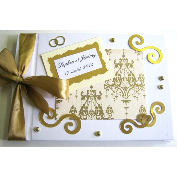 Livre d'or mariage baroque